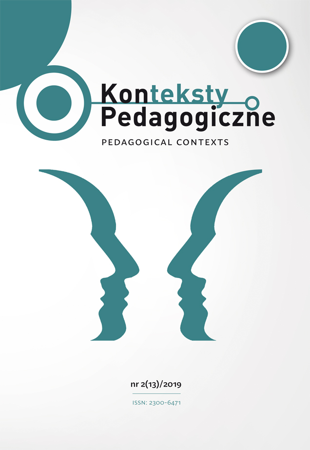 Konteksty Pedagogiczne nr 2(13)/2019
